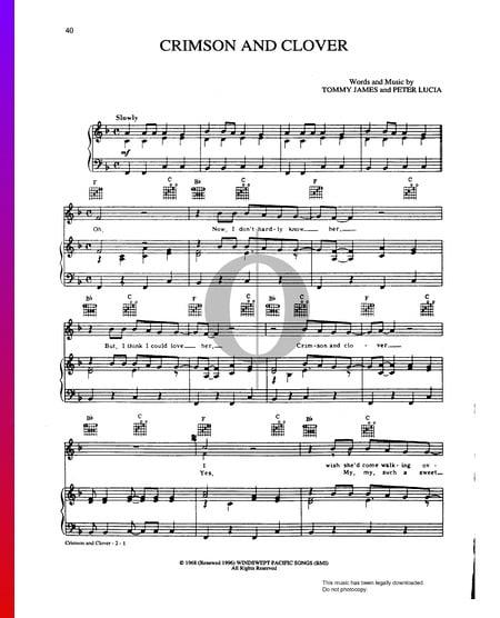 Crimson And Clover Musik-Noten