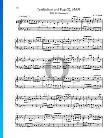 Prelude B-flat Minor, BWV 891