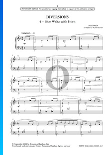 Diversions: 4. Blue Waltz With Horn