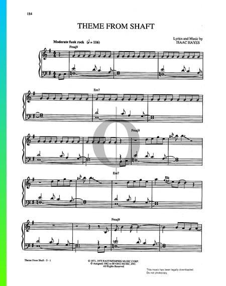 Shaft (Thema) Musik-Noten