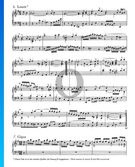 Französische Suite Nr. 5 G-Dur, BWV 816: 6. Loure Musik-Noten