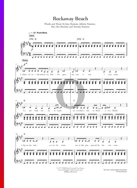 Rockaway Beach Sheet Music