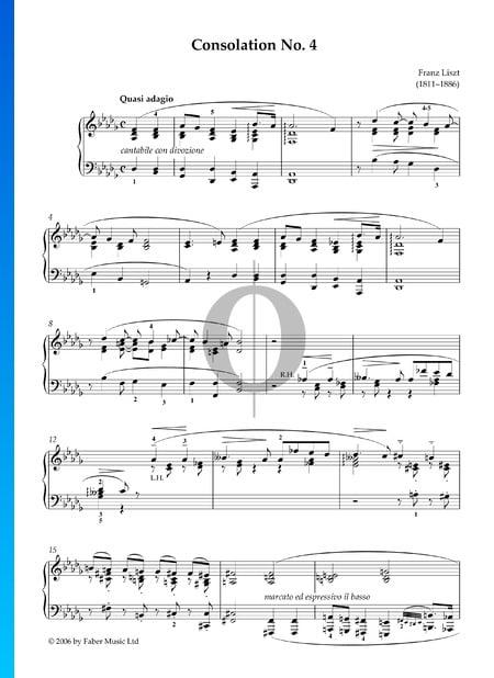 Consolation No. 4 Sheet Music