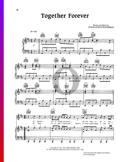 Together Forever Sheet Music