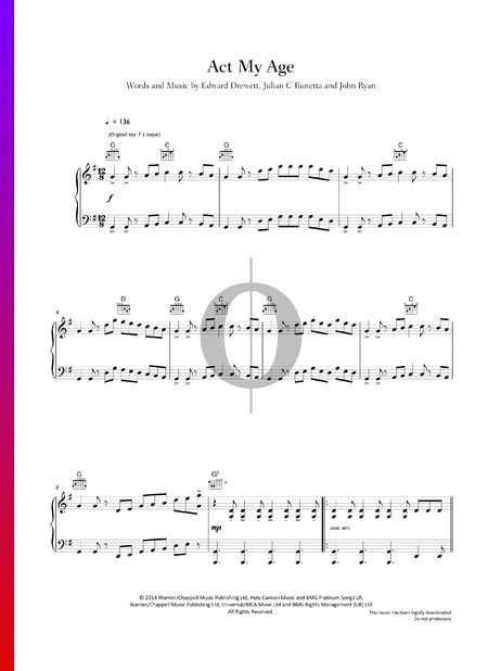 Act My Age Sheet Music