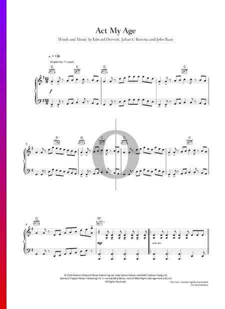 Act My Age Musik-Noten