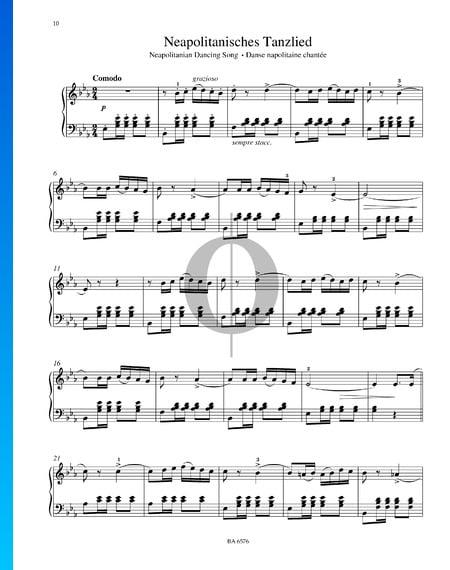 Neapolitanisches Tanzlied, Op. 39 Nr. 8 Musik-Noten