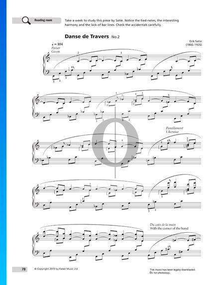 Danse de Travers No. 2 Sheet Music