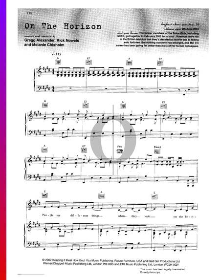 On The Horizon Musik-Noten