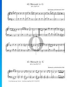 Menuet en Do Majeur, KV 1 et Trio (KV 6 1f)