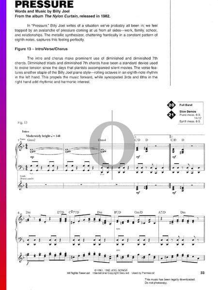 Pressure Sheet Music