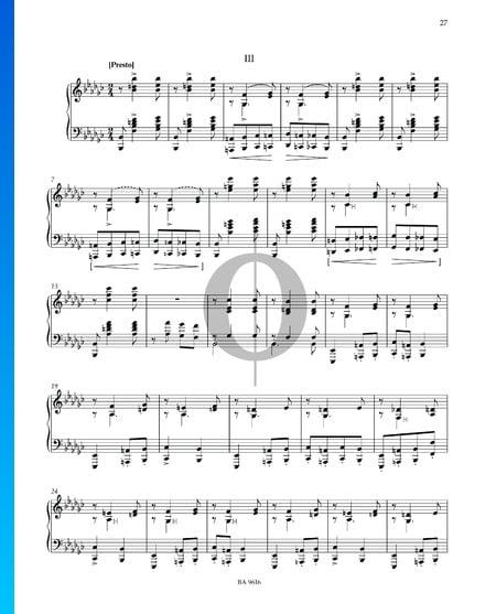 Sonate en Mi bémol mineur: 3. Presto Partition