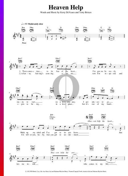 Heaven Help Musik-Noten