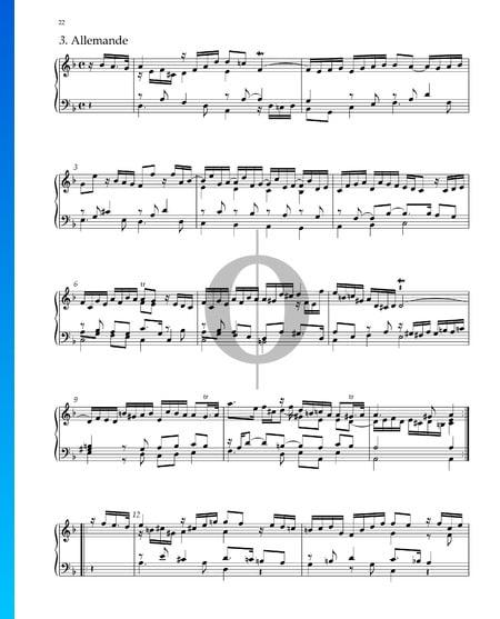 Suite No. 3 en Ré mineur, HWV 428: 3. Allemande Partition