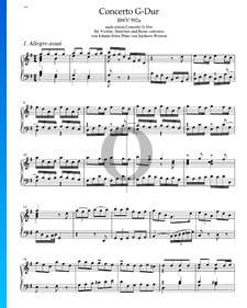 Concierto en sol mayor, BWV 592a: 1. Allegro assai