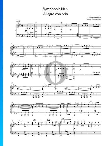 Symphonie No. 5 en Do mineur, Op. 67: 1. Allegro con brio Partition