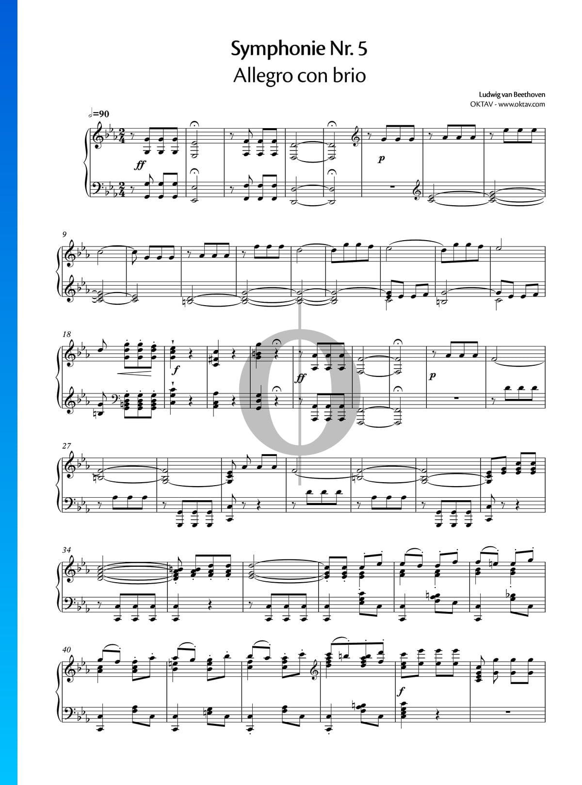 ▷ Symphony No  5 in C Minor, Op  67: 1  Allegro con brio