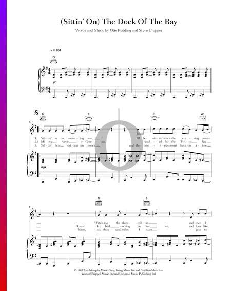 (Sittin' On) The Dock Of The Bay Sheet Music