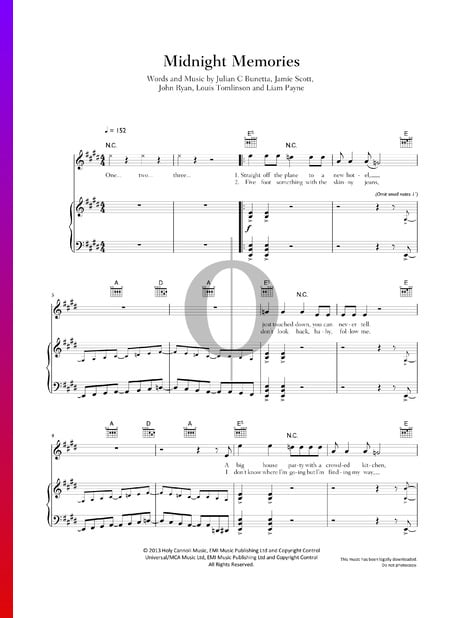 Midnight Memories Sheet Music