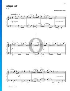 Allegro In F (KV 1c)