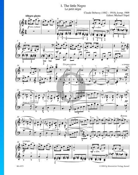 The little Negro Sheet Music