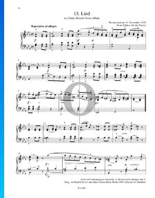 Lied, Fanny Hensels Noten-Álbum