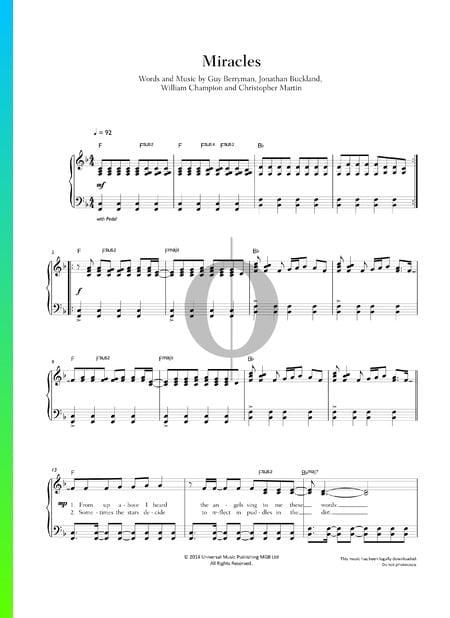 Miracles Musik-Noten