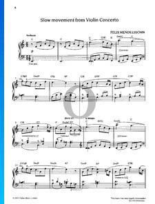 Concerto pour Violin en Mi mineur, Op. 64: 2. Andante