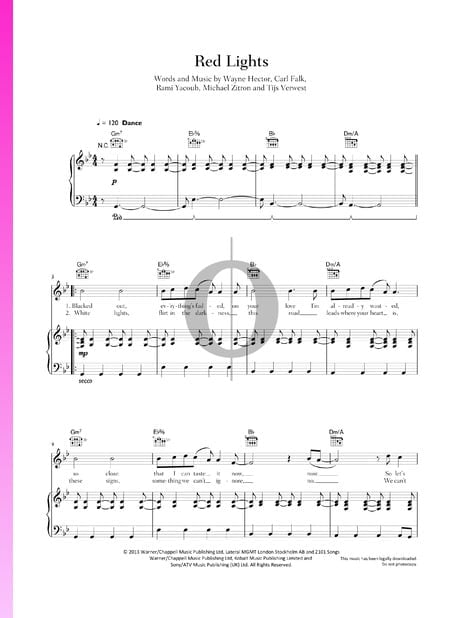 Red Lights Sheet Music