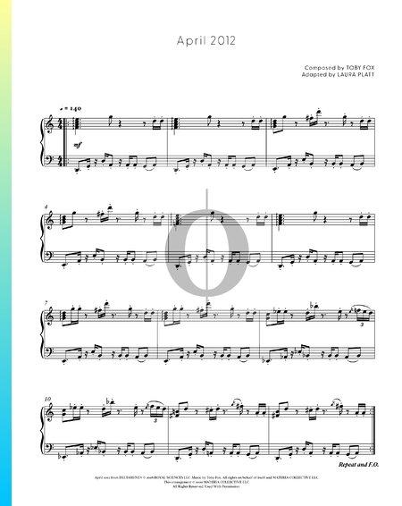 April 2012 Sheet Music