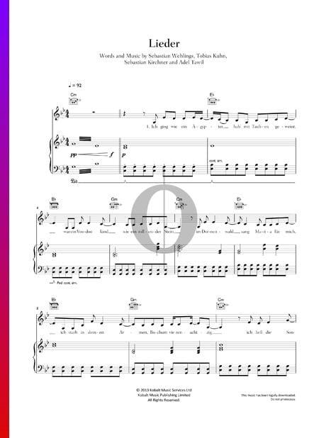 Lieder Musik-Noten