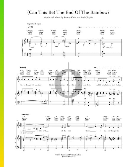 (Can This Be) The End Of The Rainbow Sheet Music