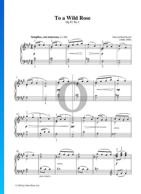 To A Wild Rose, Op. 51 Nr. 1 Musik-Noten