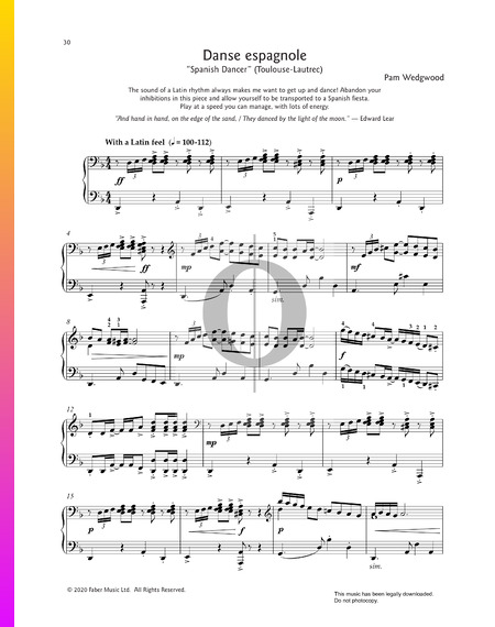 Danse Espagnole Sheet Music