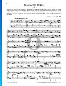 Sonata en fa menor, K466  (L.118)