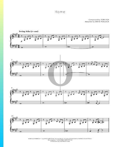 Home (Undertale) Sheet Music