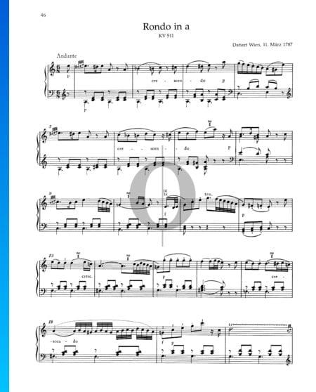 Rondo A Minor, KV 511 Sheet Music