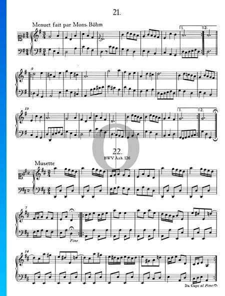 Menuet fait par Mons. Böhm Musik-Noten