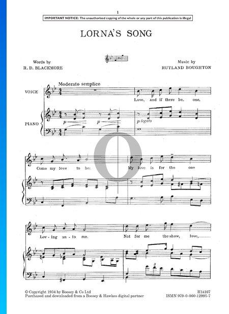 Lorna's Song Sheet Music