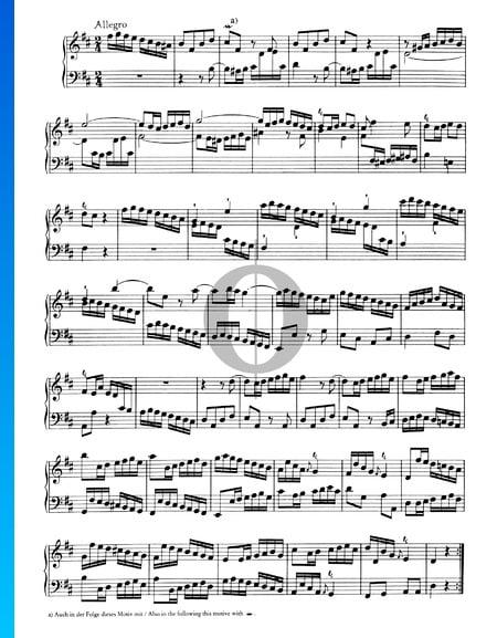 Sonata No. 6, Wq 49: 3. Allegro Sheet Music