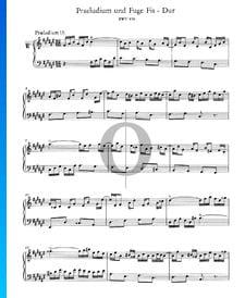 Preludio 13 en fa sostenido mayor, BWV 858