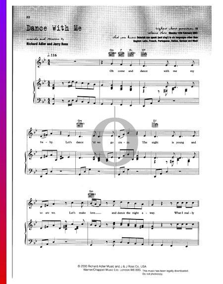 Dance With Me Musik-Noten