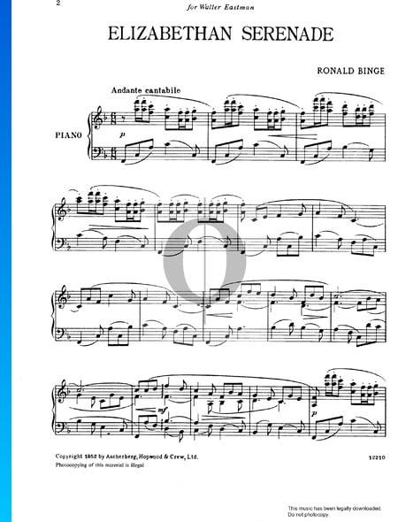 Elizabethan Serenade Musik-Noten
