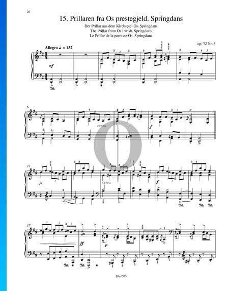 Prillaren Fra Os Prestegjeld (Der Prillar aus dem Kirchspiel), Op. 72 Nr. 5 Musik-Noten