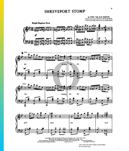Shreveport Stomp Sheet Music