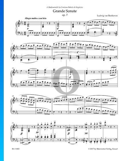 Grande Sonate, Op. 7: 1. Allegro molto e con brio Musik-Noten