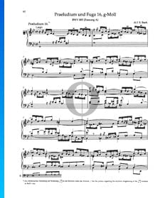 Prelude G Minor, BWV 885