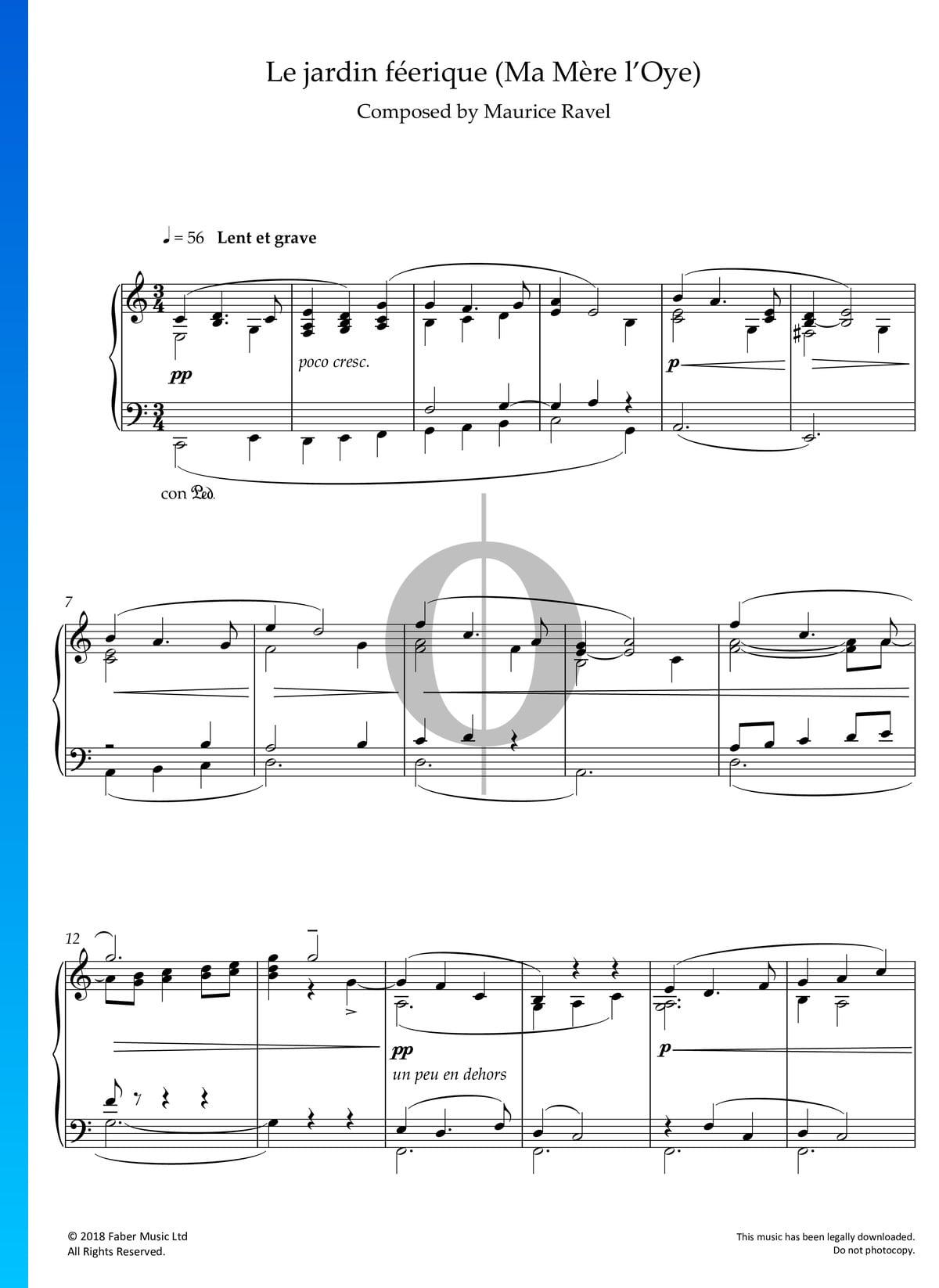 Ma Mère L Oye Mutter Gans 5 Le Jardin Féerique Noten Piano Solo Pdf Download Streamen Oktav
