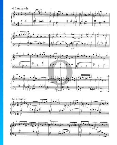 Englische Suite Nr. 6 d-Moll, BWV 811: 4. Sarabande Musik-Noten