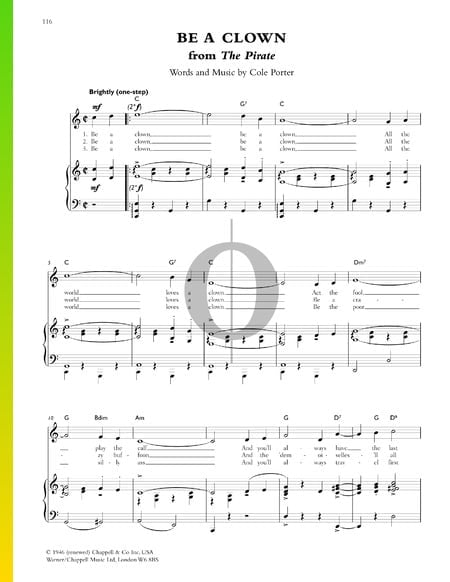 Be A Clown Sheet Music